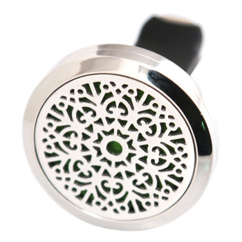 Abstract Flower 30mm Diffuser 316 Stainless Steel Car Aroma Locket Essential Oil Car Diffuser Locket Free 10Pcs Pads