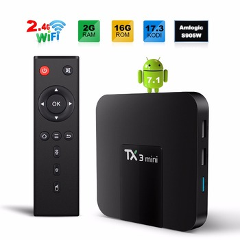 Gotit TX3 mini 2 GB 16 GB Android 7.1 TV KUTUSU Amlogic S905W Quad Core Suppot H.265 4 K 2.4 GHz WiFi Mediaspeler IPTV kutu