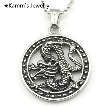 Dragonfly Necklace Casting stainless steel Pendant Chinese Punk Party Wholesale KP510