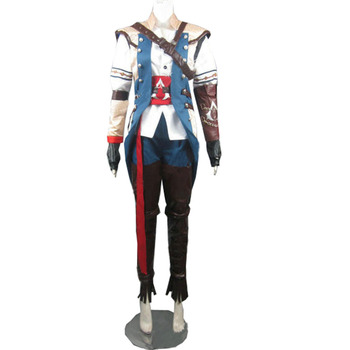 2017 Assassins Creed III Connor Kenway Cosplay Kostüm Cadılar Bayramı Noel Kostüm Custom Made