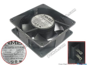 NMB-MAT 4715PS-12T-B30, A00 AC 115 V 14 W 120x120x38mm Sunucu Kare fan