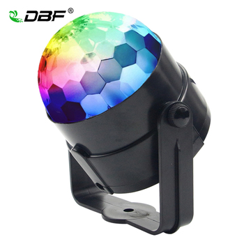 [DBF] Mini RGB LED Kristal Magic Ball Sahne 3 W Ses Otomatik kontrol Etkisi Aydınlatma Parti Disco Club DJ Bar Işık Show Lumiere